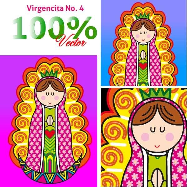 Virgencita plis en vectores - Imagui