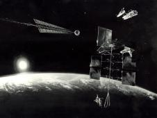 This painting depicts a mission to an<br /> Earth-approaching asteroid. (NASA)<br /> <a href='http://www.nasa.gov/topics/history/features/asteroid1.html' class='bbc_url' title='External link' rel='nofollow external'>View larger image</a>