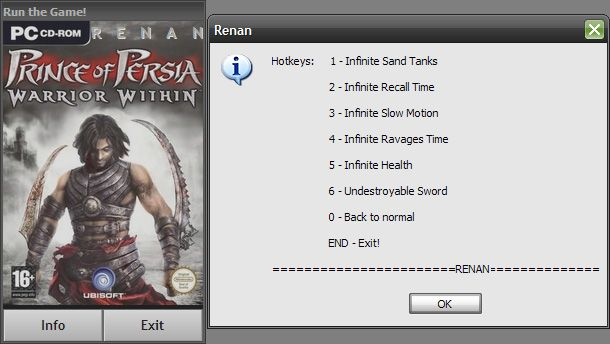 Free download prince of persia warrior within game trainer.